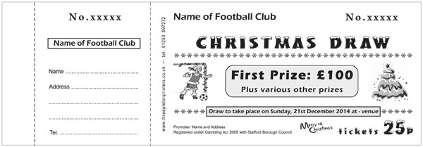 Raffle Ticket Samples  Threapleton Printers Raffle Ticket Solutions